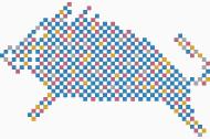 データマーケティング戦略会社のロゴ、年賀状デザイン